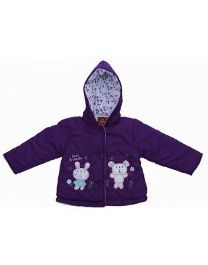 Baby Hooded Two Piece Suit 7  Dark Purple
