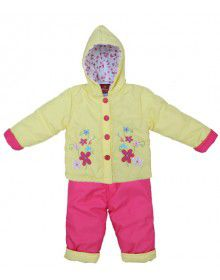 Baby Hooded Two Piece Suit 8 Yellow Pink
