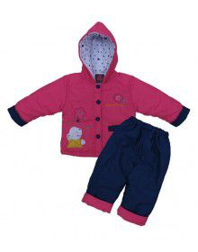 Baby Hooded Two Piece Suit 9 Pink Blue