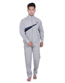Mens light grey Track Suit front stripe