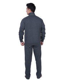 Mens Grey Track Suit front stripe