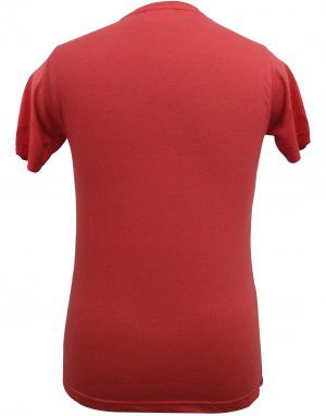 Mens  round neck  HS sleeves red T shirt