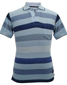 Mens collar HS skyblue T shirt