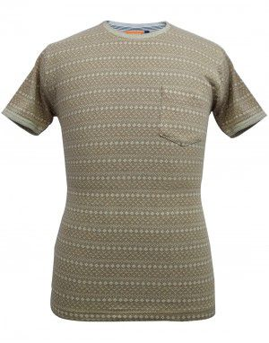 Mens round neck HS brown T shirt