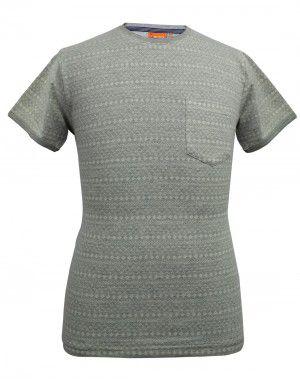 Mens round neck HS grey T shirt
