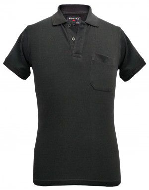 Mens Collar HS black T shirt