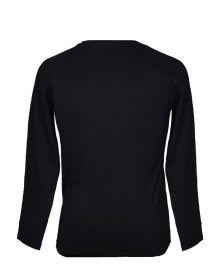 Mens Round Neck Full sleeves Black T shirt