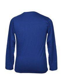 Mens Round Neck Full sleeves Blue T shirt