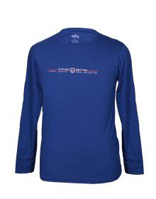 Mens Round Neck Full sleeves Blue T shirt
