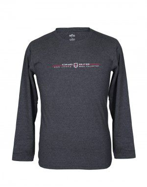 Mens Round Neck Full sleeves Grey T shirt