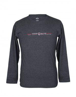 Mens Round Neck Full sleeves Grey T shirt