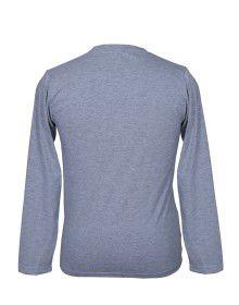 Mens Round Neck Full sleeves L. Grey T shirt