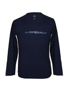 Mens Round Neck Full sleeves Navy T shirt