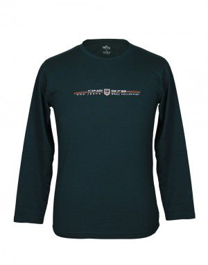 Mens Round Neck Full sleeves Olive T shirt