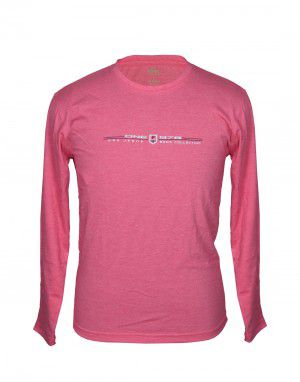 Mens Round Neck Full sleeves Pink T shirt