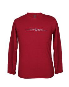 Mens Round Neck Full sleeves Red T shirt