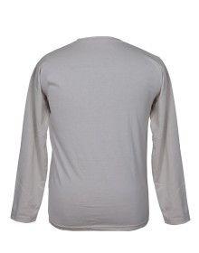 Mens Round Neck Full sleeves White T shirt
