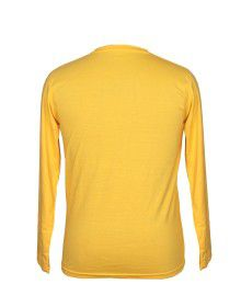 Mens Round Neck Full sleeves Yellow T shirt