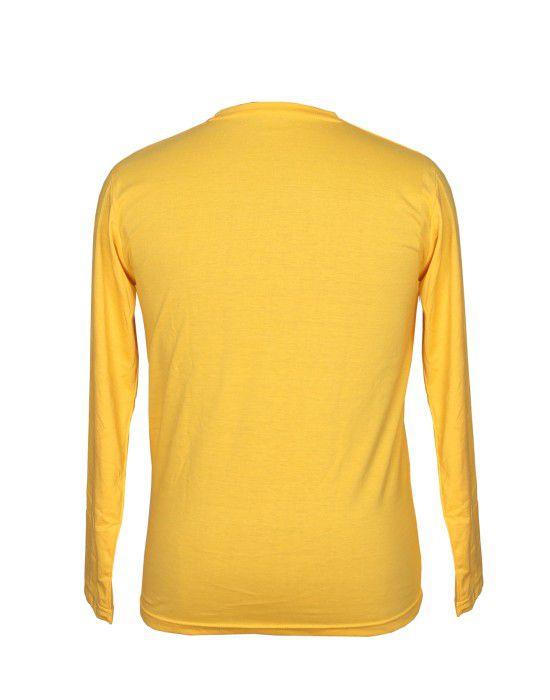 Mens Round Neck Full sleeves Yellow T shirt