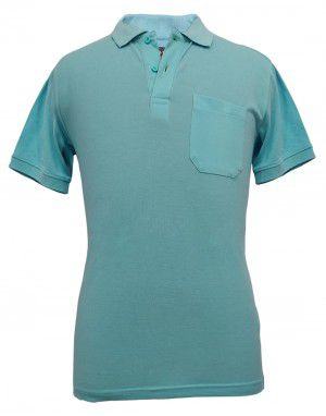 Mens  Collar  HS sleeves skyblueT shirt