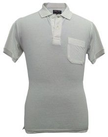 Mens Collar HS Plain White T shirt