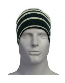 unisex woollen cap stripes with fleece inside