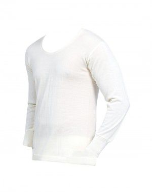 Mens Woolblend Vest FS Body warmers Cream