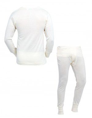 Mens Woolblend FS Body Warmers Set Cream