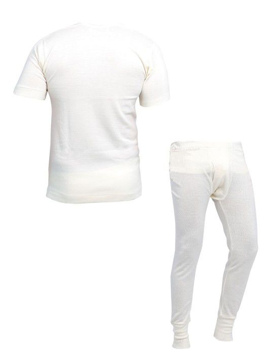 Mens Woolblend HS Body Warmers Set Cream