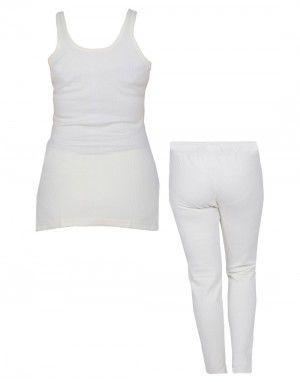Women Inner Slip SL Combo Woolblend Thermal Cream