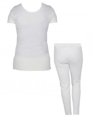 Women Inner Vest HS Combo Woolblend Thermal Cream