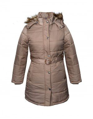 93ea6135b Shop Ladies Jacket belted Beige at Woollen Wear