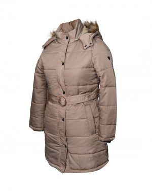 Ladies Jacket belted Beige