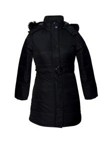 Ladies Jacket belted Black