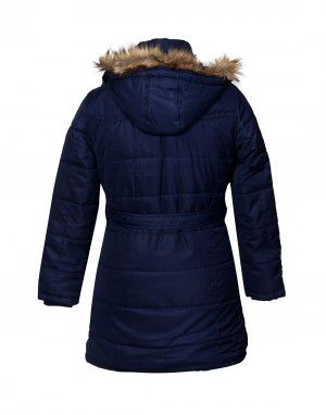 Ladies Jacket belted Navy Plus Size