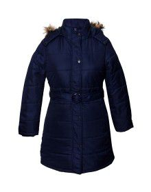Ladies Jacket belted Navy
