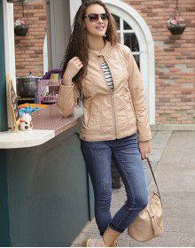 Womens Jacket PU Peach