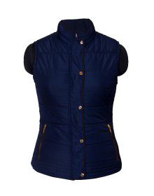 Ladies Sleeveless Jacket Navy