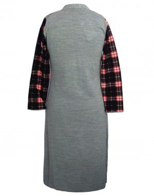Womens  Winter Designer Kurti  With Button