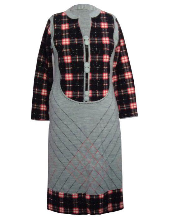 Womens  Winter Designer Kurti  With Button