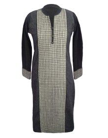 Embroidery kurti front button Design With Plazoo