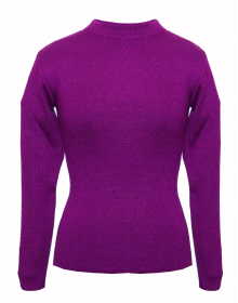 kids Girls  top Round Neck Basic purple
