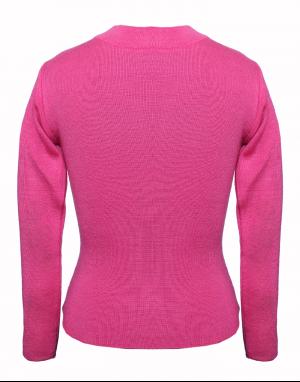 Girls Top Round Neck Basic Pink