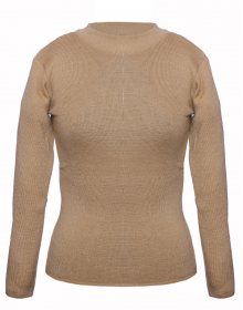 Girls Top Round Neck Basic Brown