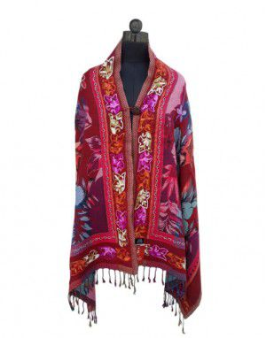 Full Embroidered shrug With Button Design