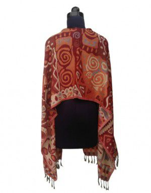 Full Printed Shrug Brown Colour With Button Front