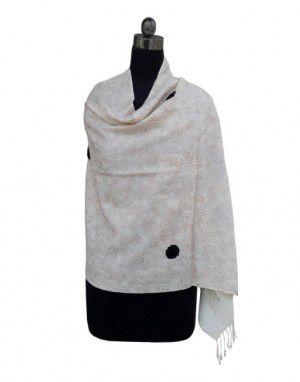 Purewool Cream Jal Stole