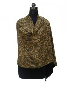 Women Viscose Designer Stole Gold