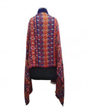 Full Embroidered designer shrug with velvet collar