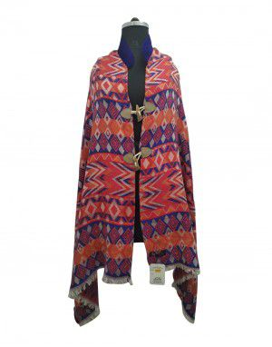 Full Embroidered designer shrug with velvet collar